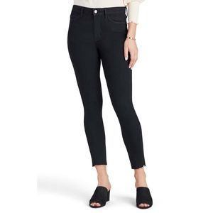 The Stiletto High Waist Raw Hem Crop Skinny Jeans